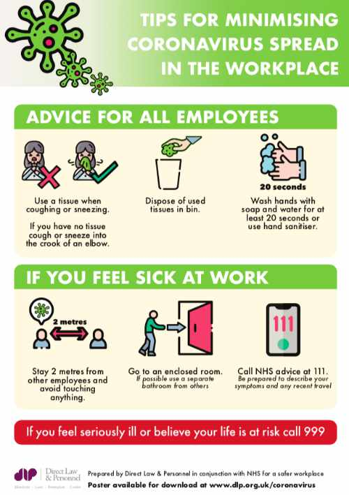 Free Coronoavirus Workplace Safety Poster